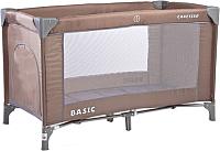 Кровать-манеж Caretero Basic (коричневый) -