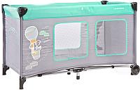 Кровать-манеж Caretero Simplo Plus (мятный) -