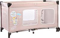 Кровать-манеж Caretero Simplo Plus (бежевый) -