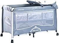 Кровать-манеж Caretero Deluxe (серый) -