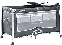Кровать-манеж Caretero Deluxe (графитовый) -