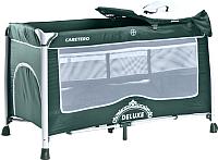 Кровать-манеж Caretero Deluxe (зеленый) -