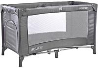 Кровать-манеж Caretero Basic (пепельный) -