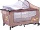 Кровать-манеж Caretero Grande Plus (бежевый) -