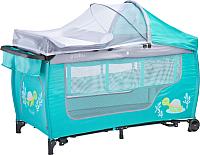 Кровать-манеж Caretero Grande Plus (мятный) -