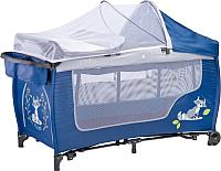 Кровать-манеж Caretero Grande Plus (синий) -