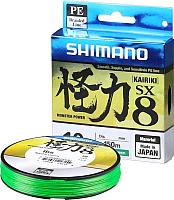Леска плетеная Shimano Kairiki PE 0.100мм 6кг / 511008G0164MC (150м, зеленый) -