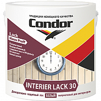 Лак CONDOR Interier Lack-30 (2.3кг, белый) -