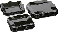 Набор тарелок Luminarc Authentic Black E5251 (18шт) -