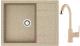 Мойка кухонная Berge BR-6502 + смеситель GR-3505 (песочный/классик) -