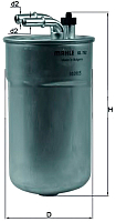 Топливный фильтр Knecht/Mahle KL792 -