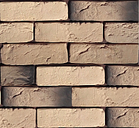 Декоративный камень Polinka Кирпич шамотный бежевый 0302 (198-205x58-62) -