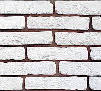 Декоративный камень Polinka Кирпич древний белый 0600 (270-285x58-62x6-10) -