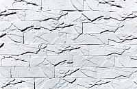 Декоративный камень Polinka Кирпичный скол белый 0800 (225x59x11-15) -