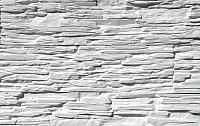 Декоративный камень Polinka Сланец Саянский белый 0100 (398x94x10-14) -