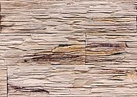Декоративный камень Polinka Сланец Саянский бежевый градиент 0102Г (398x94x10-14) -