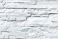 Декоративный камень Polinka Сланец Рифейский белый 0200 (398x94x10-14) -