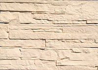 Декоративный камень Polinka Сланец Рифейский бежевый 0202 (398x94x10-14) -
