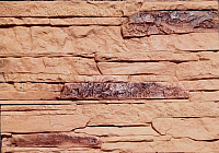 Декоративный камень Polinka Сланец Рифейский коричневый Люкс 0204Л (398x94x10-14) -