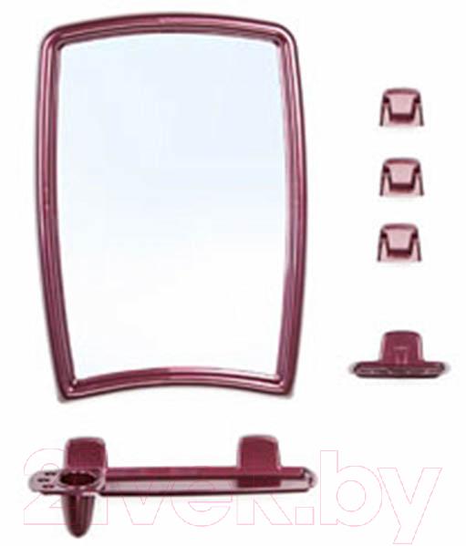 Купить Комплект мебели для ванной Berossi, 41 НВ 04115000 (рубиновый), Россия