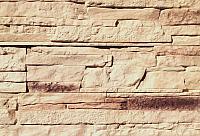 Декоративный камень Polinka Сланец Рифейский бежевый Люкс 0202Л (398x94x10-14) -