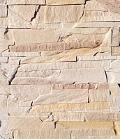 Декоративный камень Polinka Сланец Византийский бежевый 0902 (382x97x13-17) -