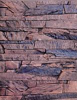 Декоративный камень Polinka Сланец Византийский коричневый 0904 (382x97x13-17) -