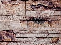 Декоративный камень Polinka Сланец Карпатский бежевый гардиент 1402Г (395x95x16-20) -