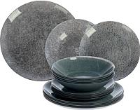 Набор тарелок Luminarc Stony Grey L3644 (18шт) -