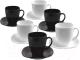 Набор для чая/кофе Luminarc Carine Black/White D2371 -