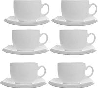 Набор для чая/кофе Luminarc Quadrato White E8865 -