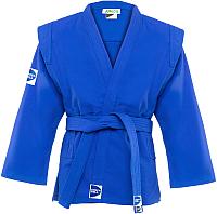 Куртка для самбо Green Hill Junior SCJ-2201 (р.3/160, синий) -