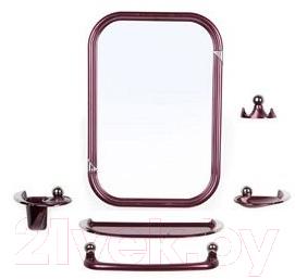 Купить Комплект мебели для ванной Berossi, Viva Style НВ 10415001 (рубиновый перламутр), Россия