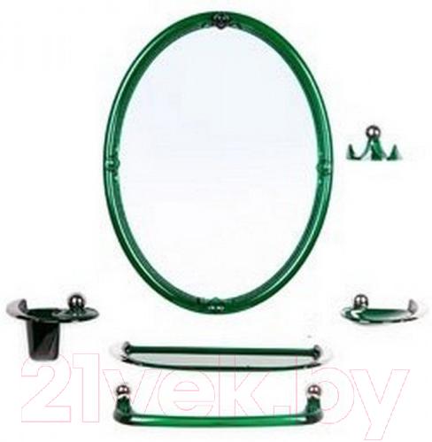 Купить Комплект мебели для ванной Berossi, Viva Sharm НВ 10711001 (зеленый плолупрозрачный), Россия