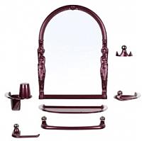 Комплект мебели для ванной Berossi Viva Ellada НВ 11115001 (рубиновый перламутр) -