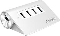 USB-хаб Orico M3H4-U32 (серебристый) -