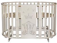 Детская кровать-трансформер Антел Северянка-3 Корона (слоновая кость) -