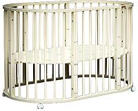 Детская кровать-трансформер Bambini М.01.10.14 (слоновая кость) -