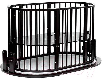 Купить Детская кровать-трансформер Bambini, М.01.10.14 (темный орех), Беларусь, массив дерева