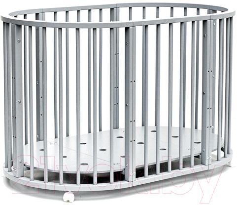 Купить Детская кровать-трансформер Bambini, М 01.10.14 (серый), Беларусь, массив дерева