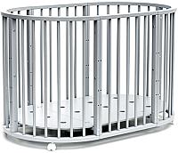 Детская кровать-трансформер Bambini М 01.10.14 (серый) -