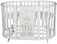 Детская кровать-трансформер Антел Северянка-3 Корона (белый) -