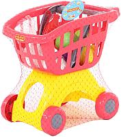 Тележка игрушечная Полесье Мини с набором продуктов №14 / 71385 (в сеточке) -
