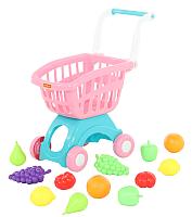 Тележка игрушечная Полесье Тележка Мини с набором продуктов №15 / 71392 -