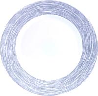 Тарелка столовая мелкая Luminarc Brush Grey L0613 -
