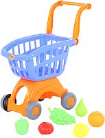 Тележка игрушечная Полесье Тележка с набором продуктов №3 / 71378 -