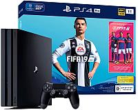 Игровая приставка Sony PlayStation 4 Pro 1TB + игра FIFA 19 / PS719765912 -