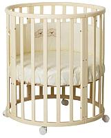 Детская кровать-трансформер Incanto Mimi 7 в 1 с пластиковой накладкой (слоновая кость) -