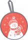 Санки-ледянка Ника ЛР40 Снеговик (красный) -