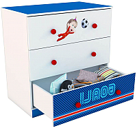 Комод Polini Kids Fun 3290 Маша и Медведь (синий) -